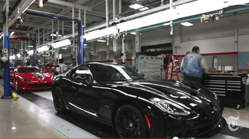 Production line at Chrysler's Conner Avenue Assembly plant