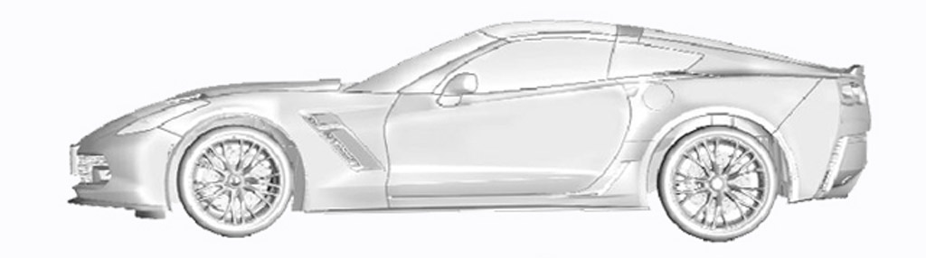 Rendering alleged to be of the 2014 Chevrolet Corvette (C7) - Image via Corvette Forum