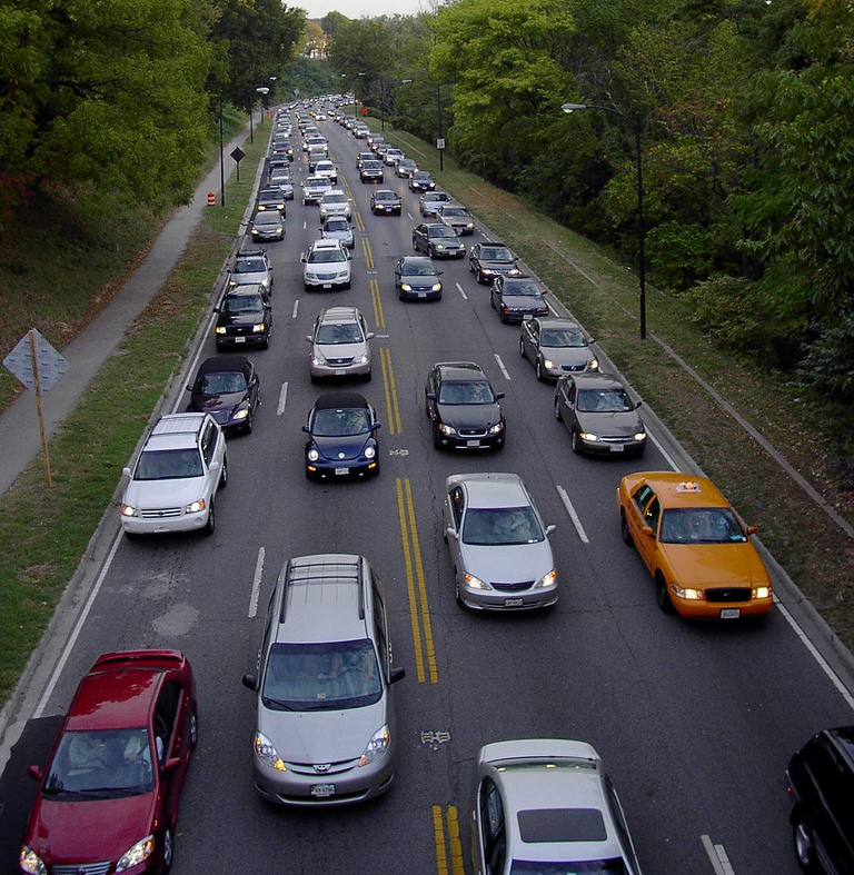 Rush hour traffic in Washington, D.C. (photo by Flickr user haddensavix)