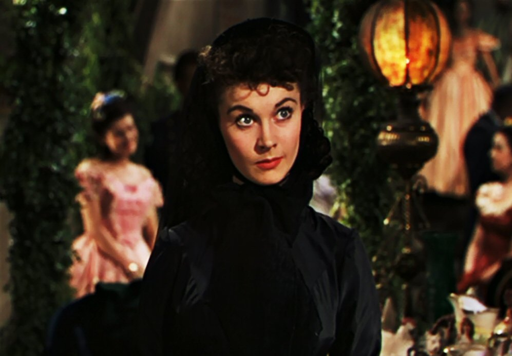 Scarlett O'Hara in mourning, Gone With The Wind
