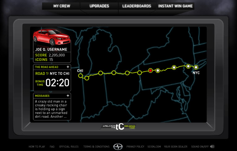 Scion's 'Unlock the tC' game