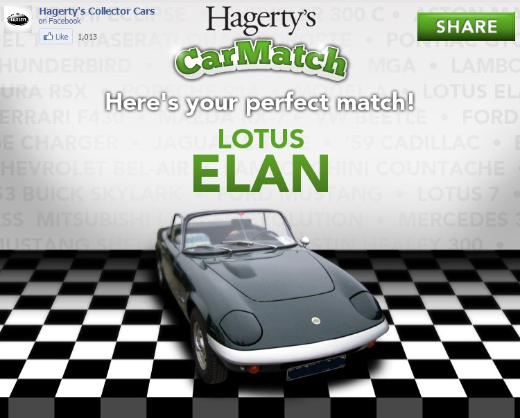 Screencap from Hagerty's Facebook app