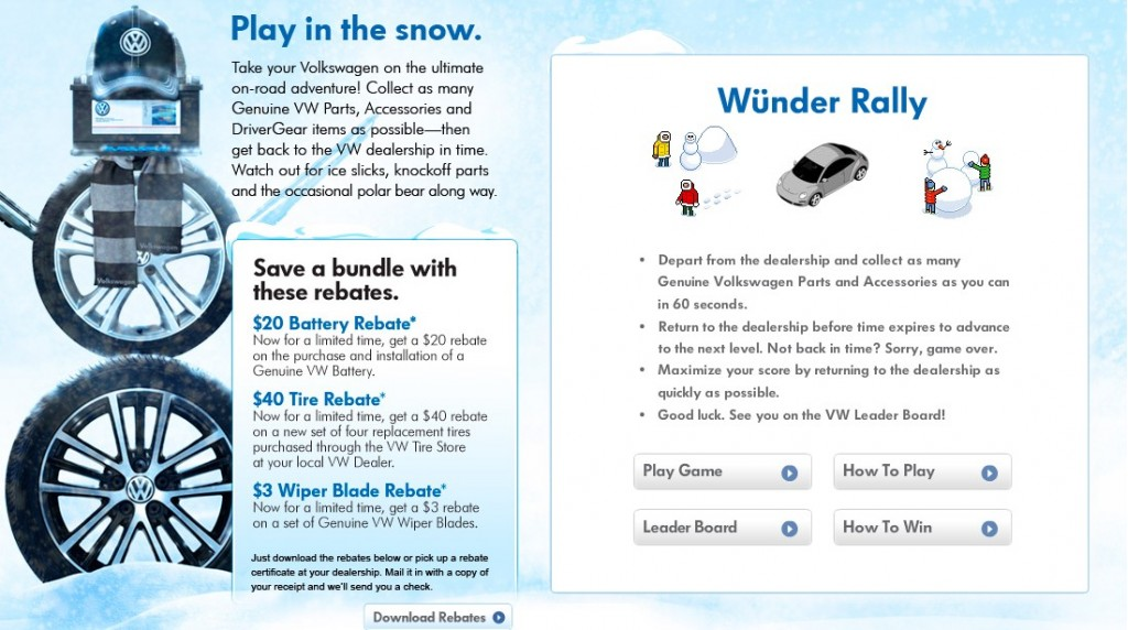 Screencap from www.VWWinterWunderland.com