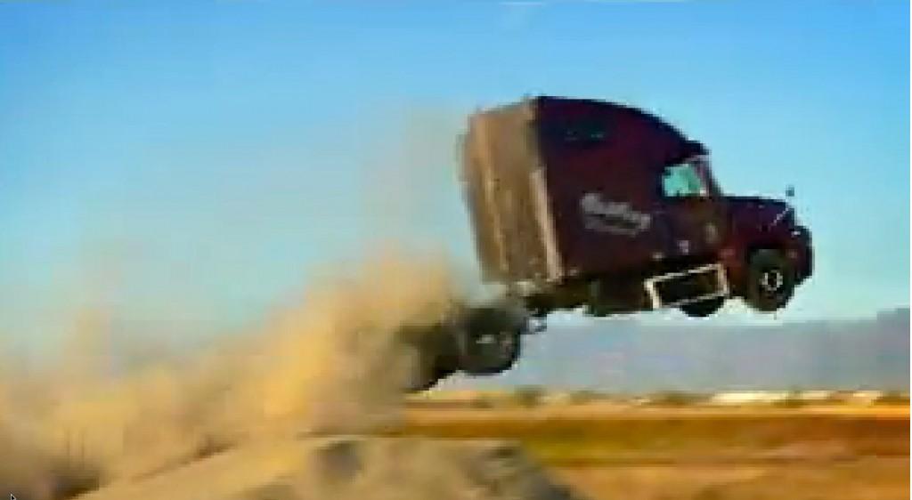 semi-truck jump