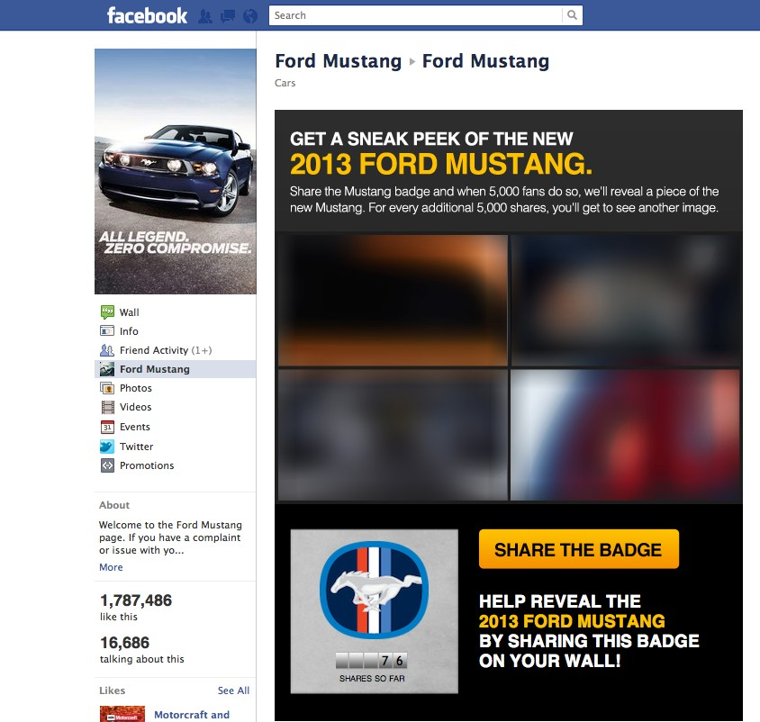 Share The Ford Mustang Badge