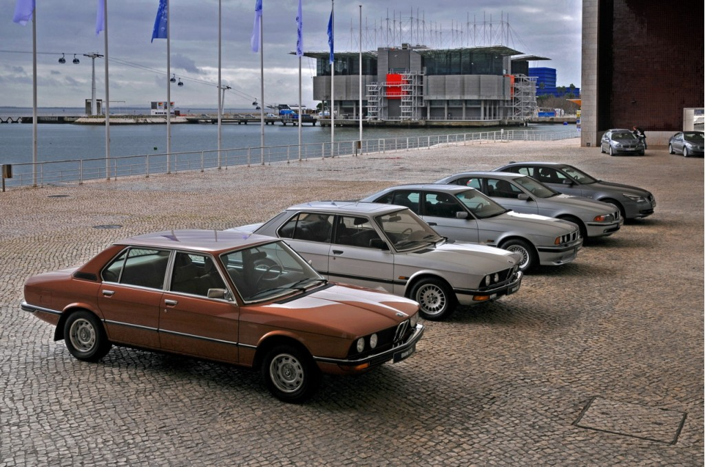 Six generations of the BMW 5-Series