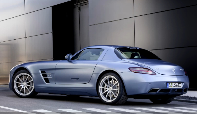 SLS AMG at the AMG Performance Studio