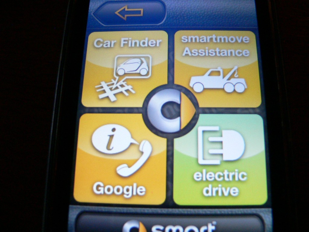 Smart Drive app, for iPhone and 2011 Smart Electric Drive