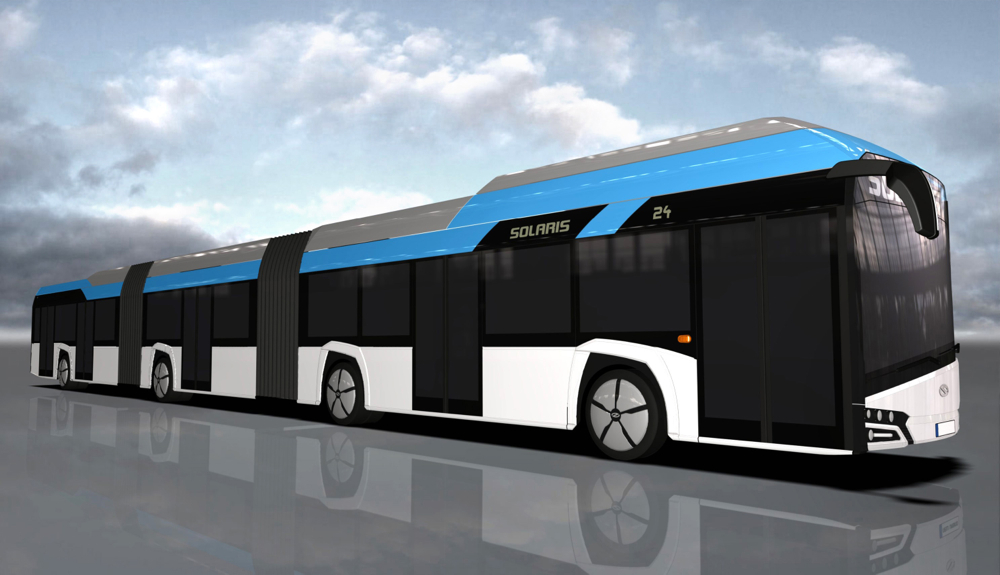 Electric Cars Vs Gas Cars >> 80-Foot Long Electric Bus Concept From Poland: Uses Fuel Cells Too