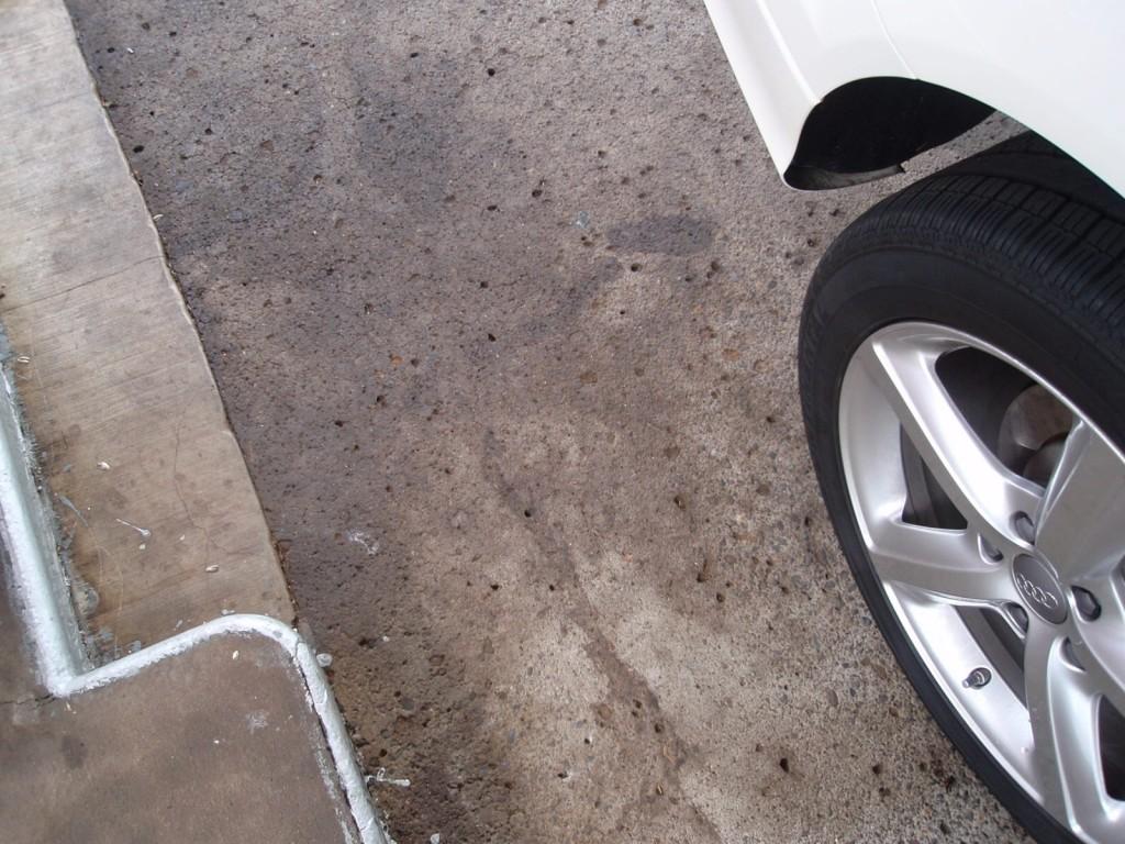 stains below diesel pump