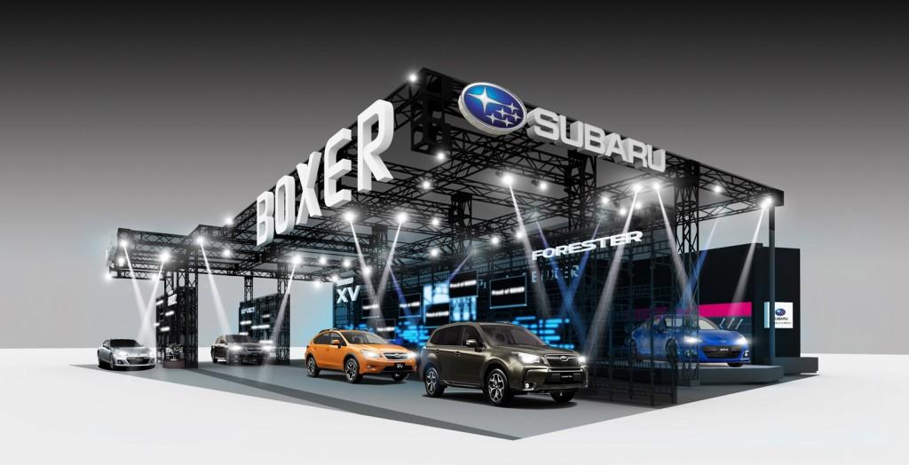 Subaru's booth at the 2013 Tokyo Auto Salon