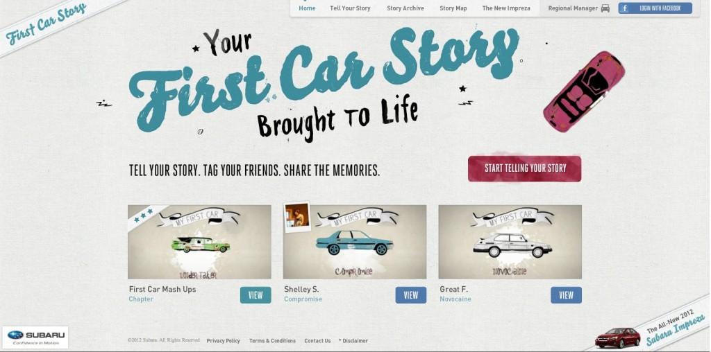 Subaru's FirstCarStory.com