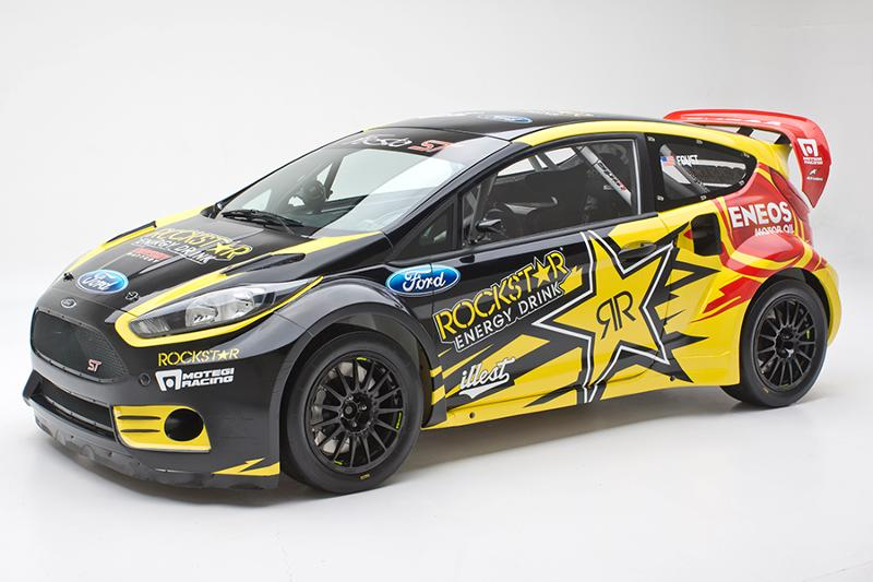 Tanner Foust's 2013 Rockstar Energy Ford Fiesta ST Global Rallycross car