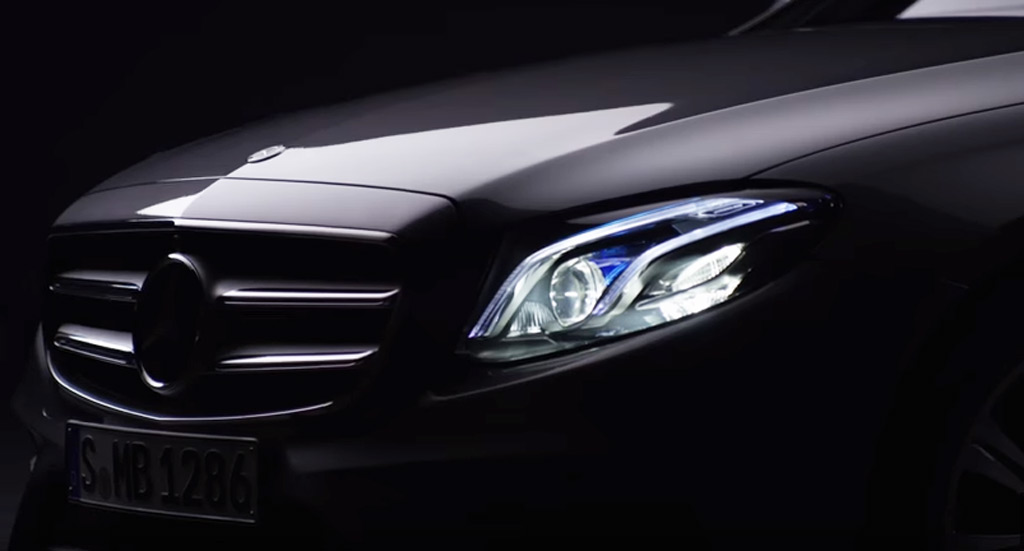 2017 mercedes benz e class teased in new video for Mercedes benz driving school los angeles