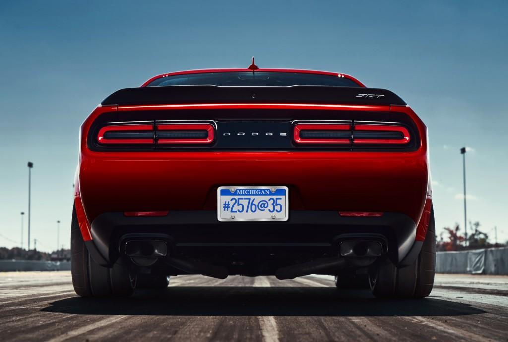 Image: Teaser for 2018 Dodge Challenger SRT Demon debuting at 2017 New York auto show, size ...