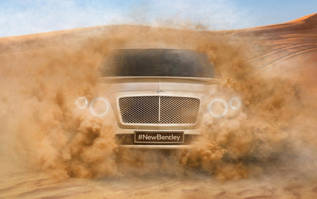 Teaser for Bentley's SUV