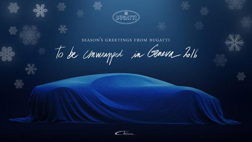 Bugatti Chiron Teased Ahead Of 2016 Geneva Motor Show Debut