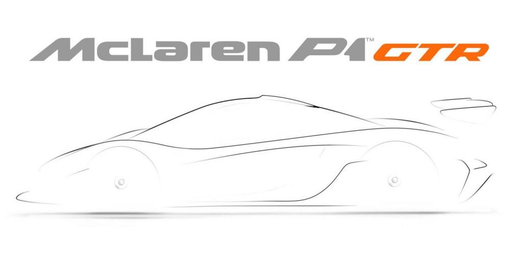 Teaser for McLaren P1 GTR