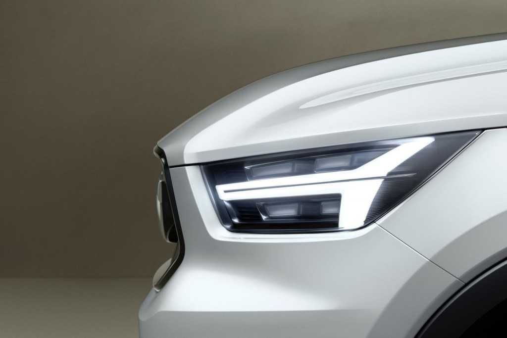 Teaser for new concept thought to preview upcoming Volvo XC40