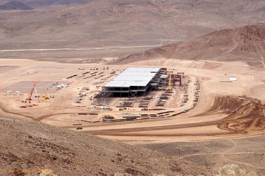 Image Tesla Battery Gigafactory Site Reno Nevada Feb