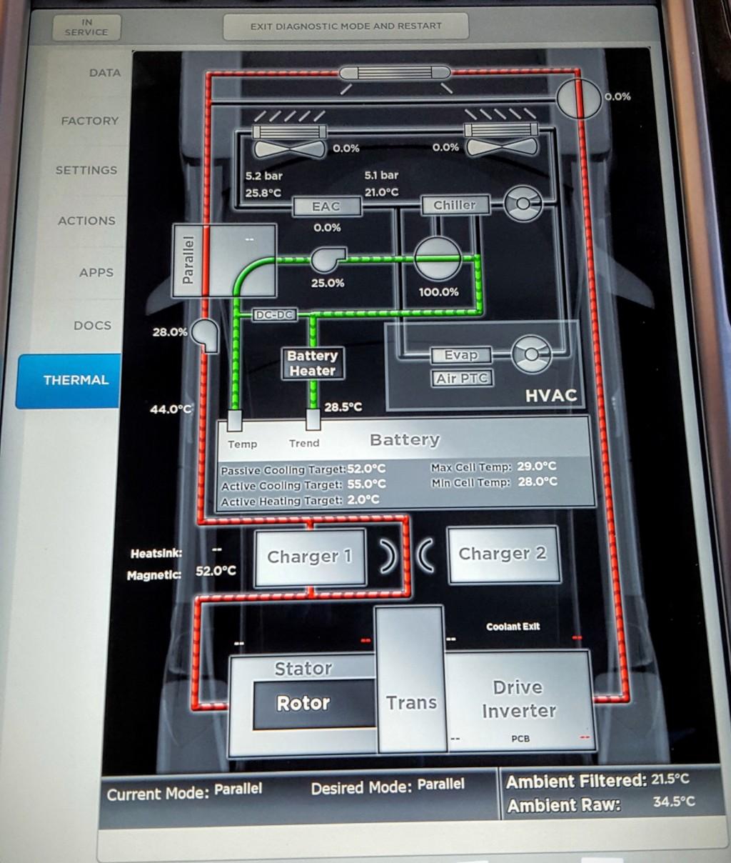 image tesla model s thermal management screen. Black Bedroom Furniture Sets. Home Design Ideas