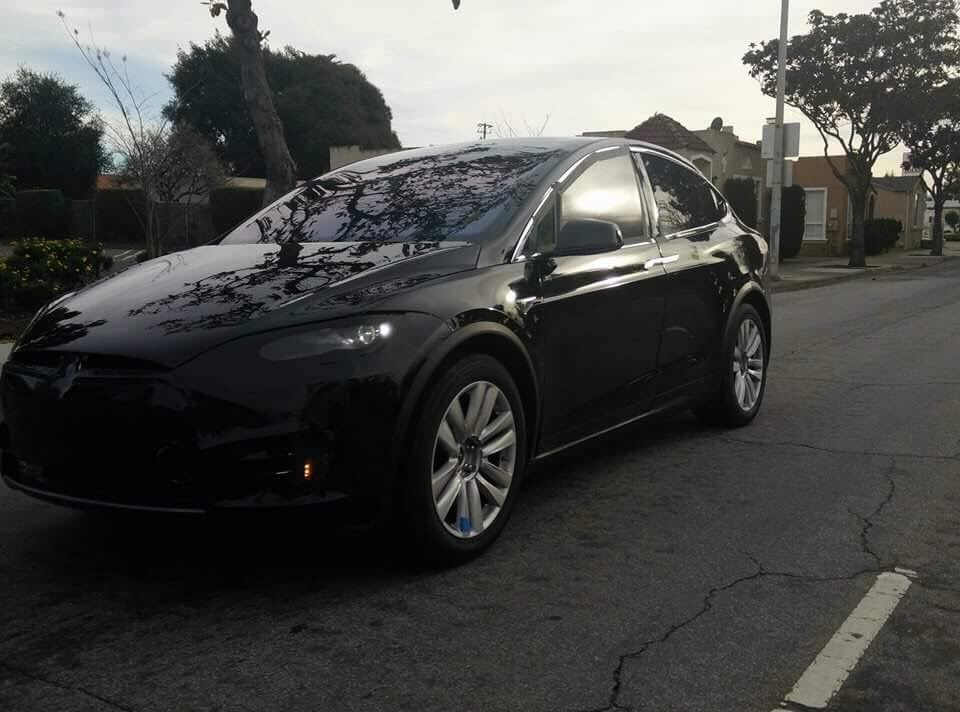 Tesla model x prototype caught completely undisguised for Tesla model x porte