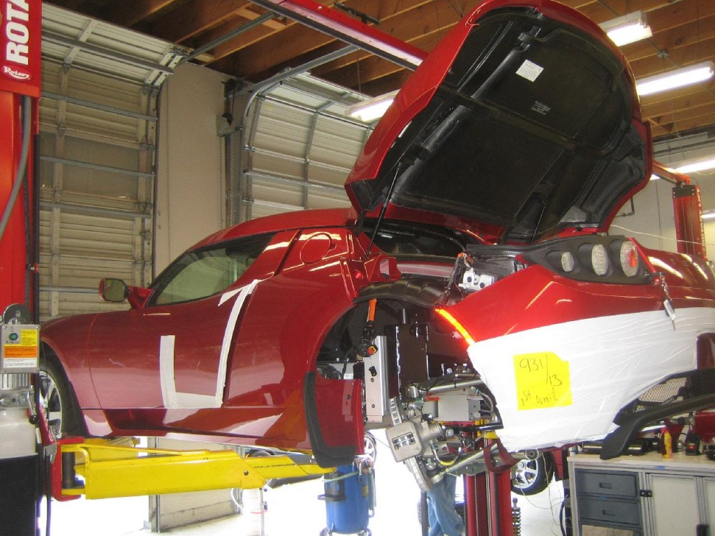 Tesla Roadster final assembly, Menlo Park, California, April 2009