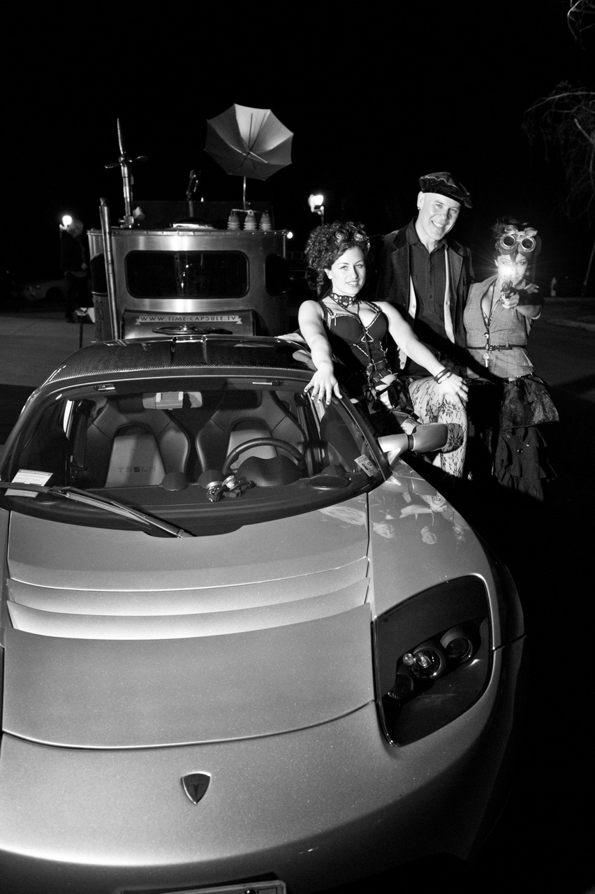 Tesla Roadster, Laura, musician Thomas Dolby, Pandora - March 2012 [photo by Doug Seymour]
