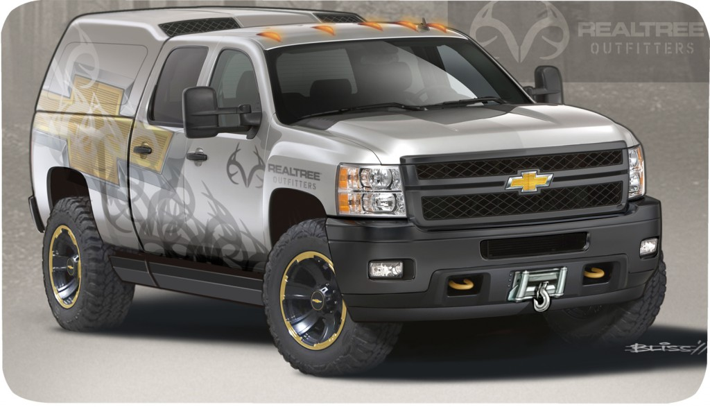 The 2012 Chevy Silverado 2500 HD Realtree concept. Image: GM Corp.