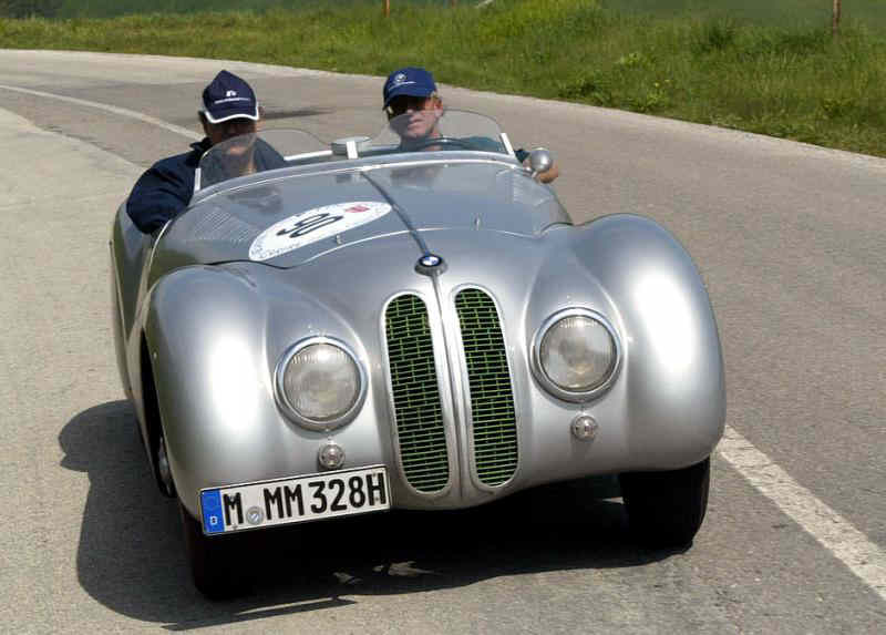 The 2012 Mille Miglia second place car, a 1939 BMW 328 Mille Miglia Roadster