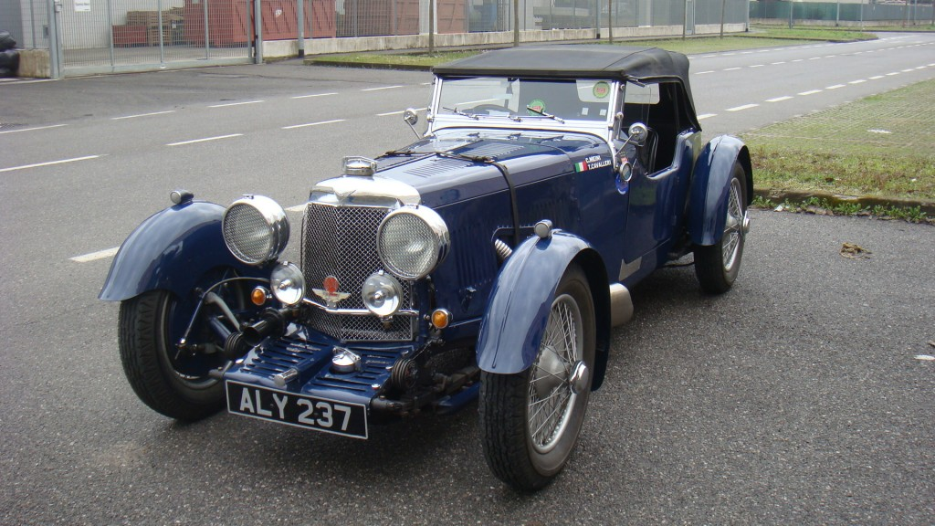 The 2012 Mille Miglia third place car, a 1933 Aston Martin Le Mans