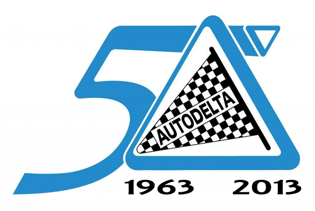 The Autodelta 50th anniversary logo