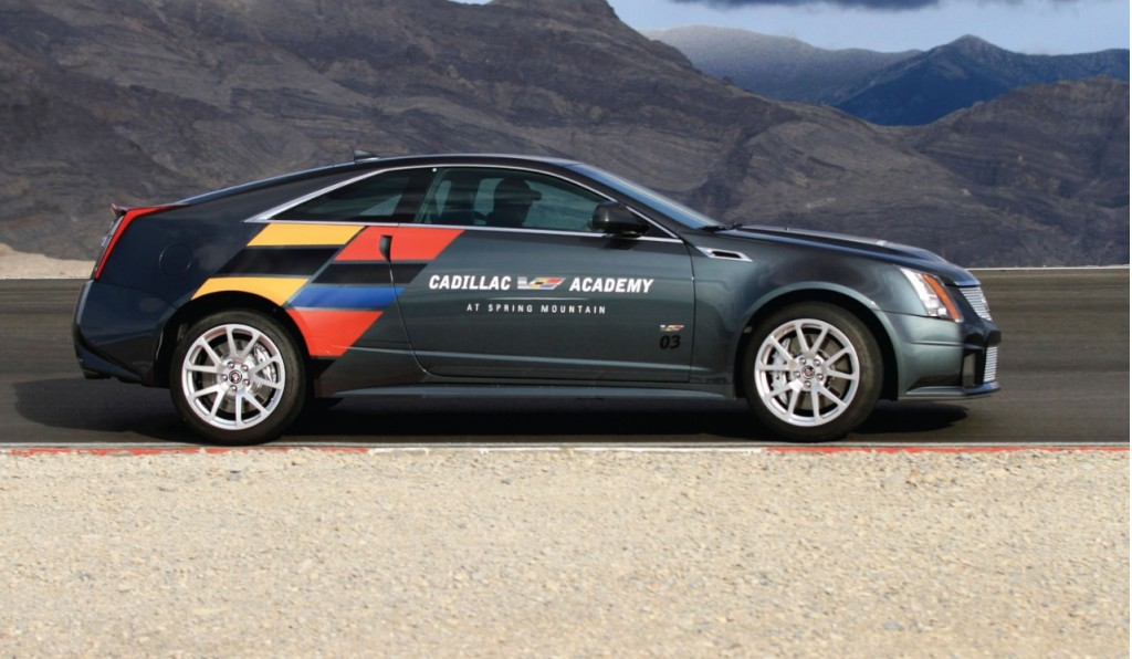 The Cadillac CTS-V Coupe laps Spring Mountain - image: GM Corp