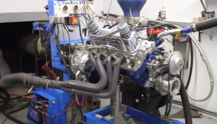 The Ford Racing Z460 crate engine on the dyno