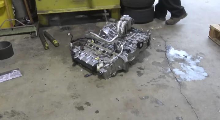 Watch an engine get cut in half