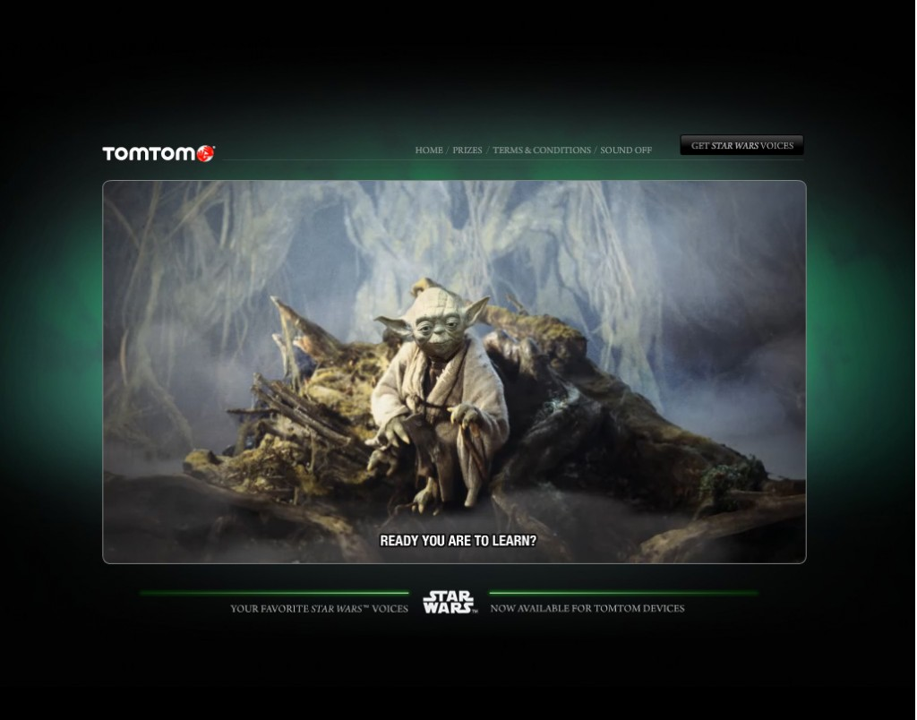TomTom's interactive Star Wars game