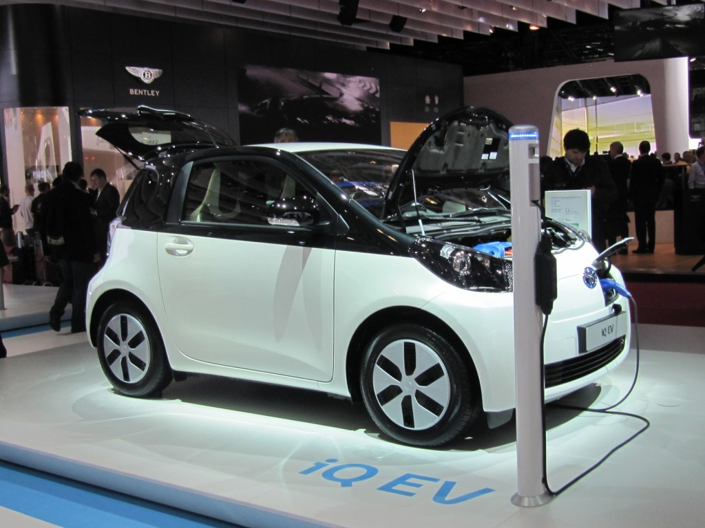 Toyota iQ EV electric car at 2012 Paris Auto Show