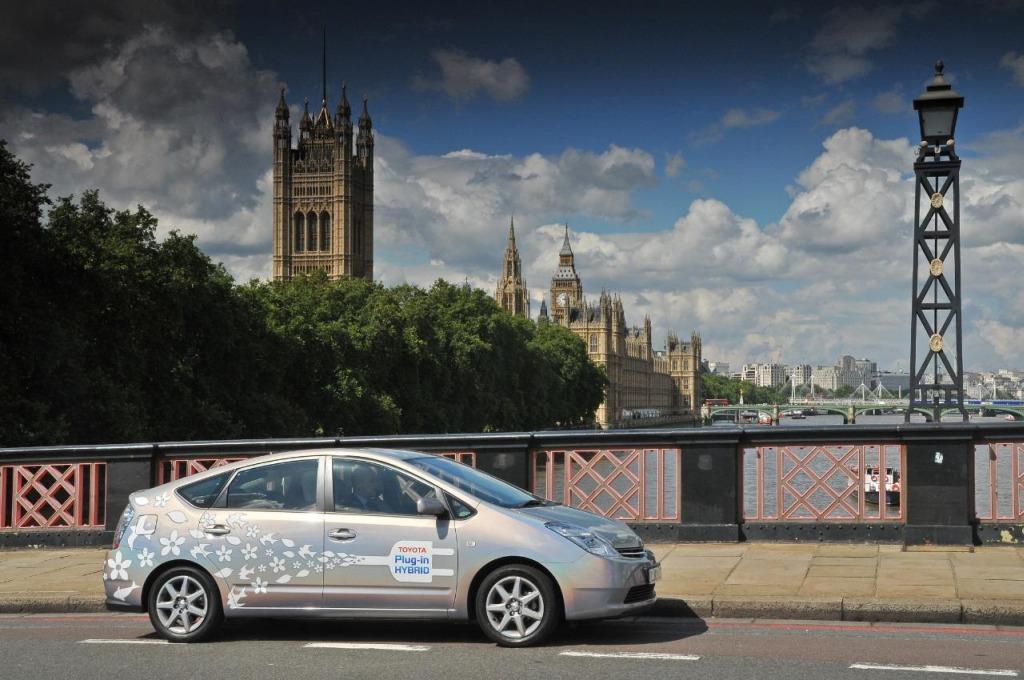 Toyota Prius Plug-In Hybrid prototype in London, U.K.
