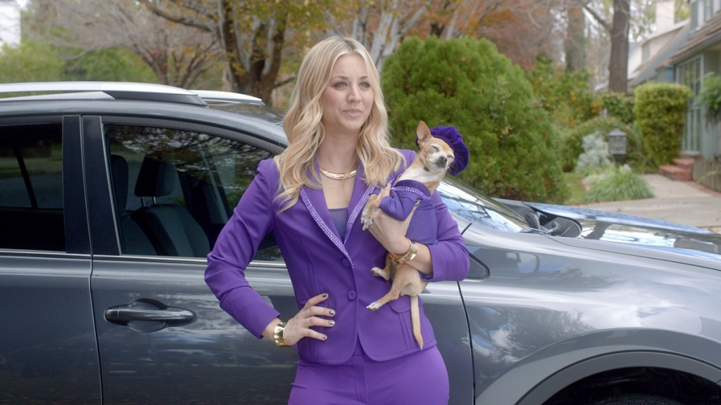 Toyota RAV4 commercial featuring Kaley Cuoco