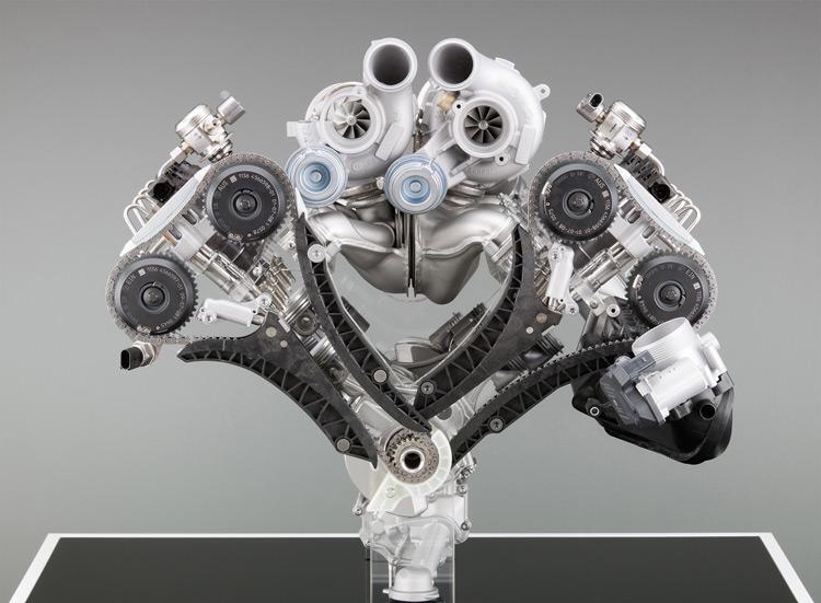 Twin-Turbocharged BMW M V-8