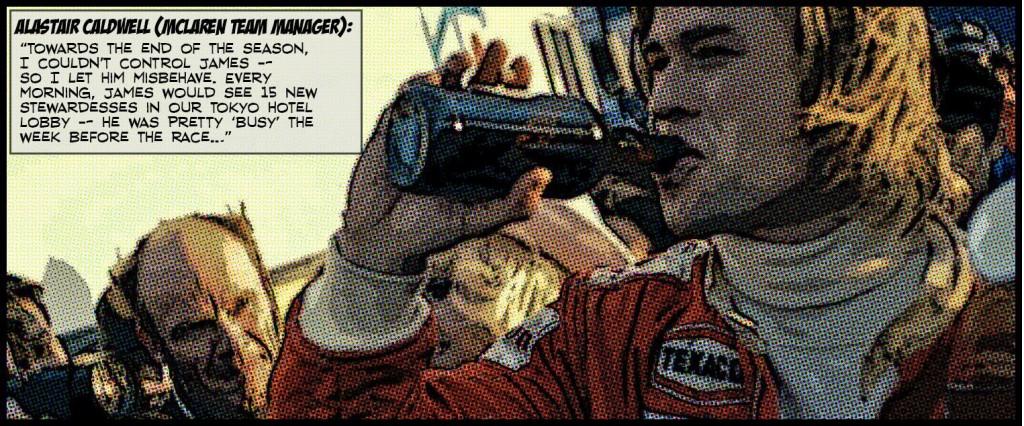 Vodafone McLaren Mercedes releases James Hunt comic strip