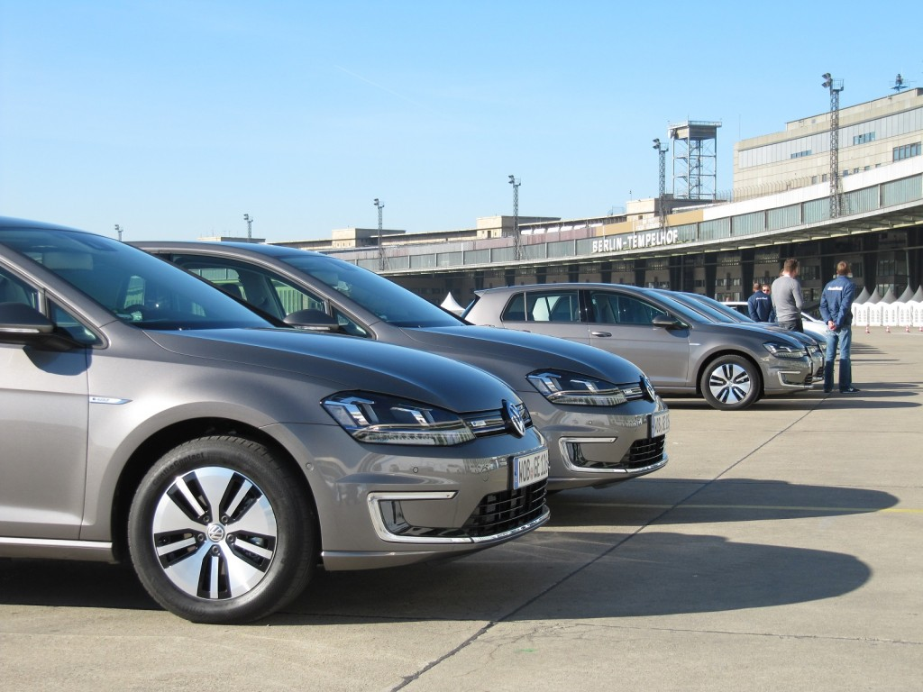 Volkswagen e-Golf (European model) test drive, Berlin, March 2014