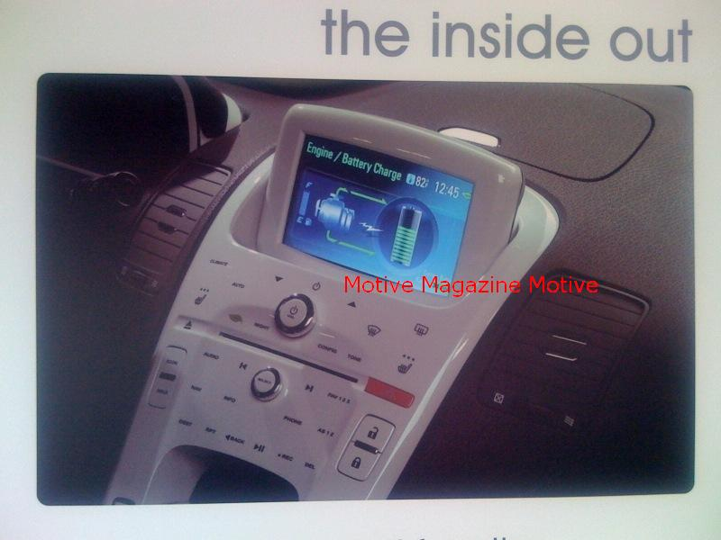 2011 Chevrolet Volt: Is This the Interior?