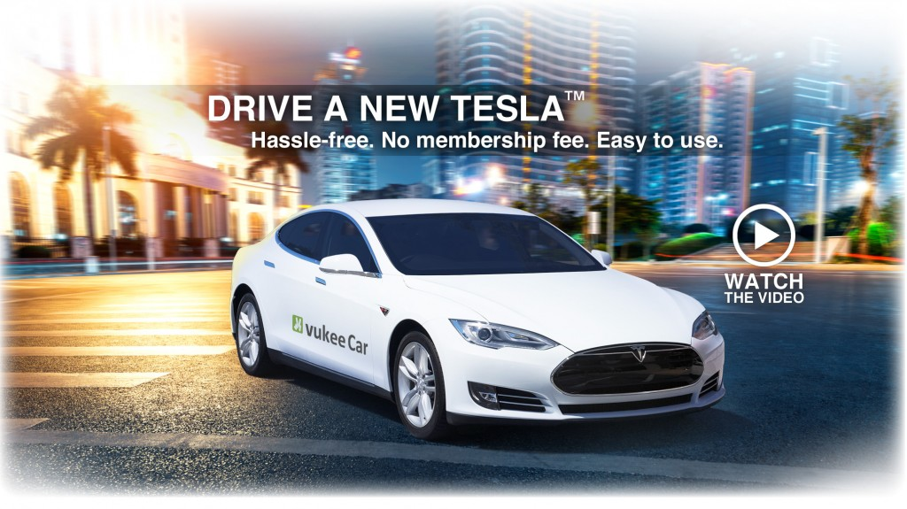 Vukee Car Tesla Model S car-sharing service