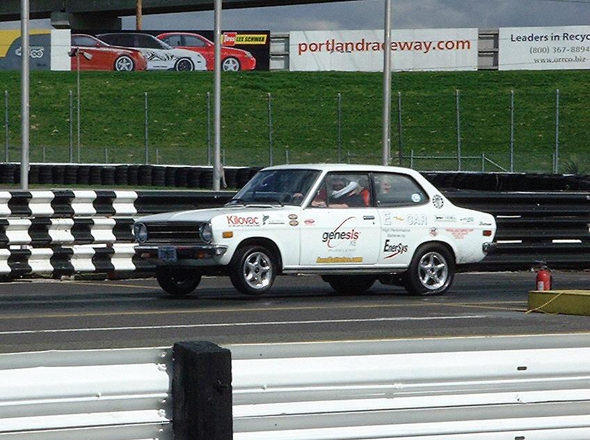 White Zombie electric Datsun drag racer (Image: Plasma Boy Racing)