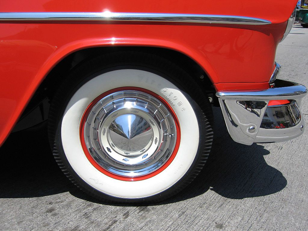 Whitewall tire (photo by Kevin Stanchfield)