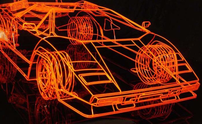 Wireframe Lamborghini Countach