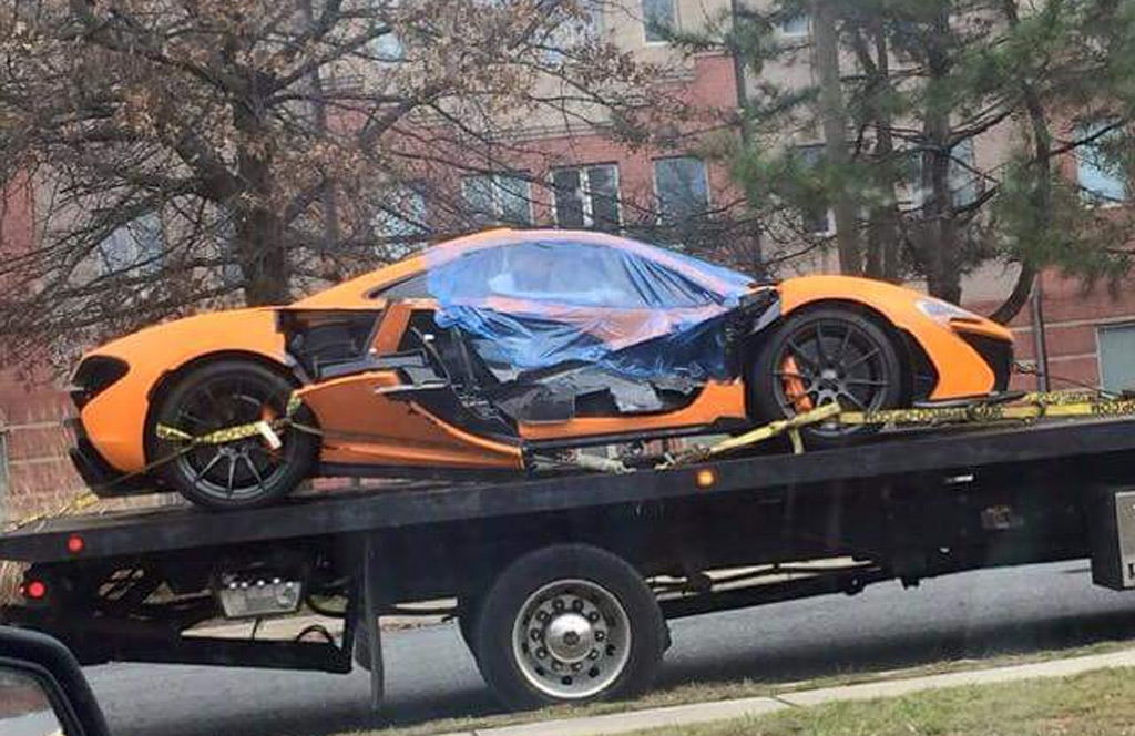 Mclaren P1 Suffers Serious Crash In Washington D C