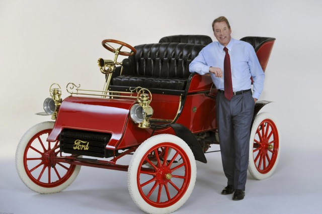 1903 Ford Model A Rear Entry Tonneau and Bill Ford, Jr.