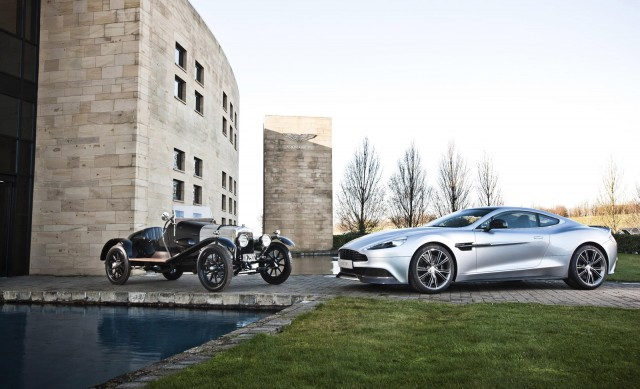 1921 Aston Martin A3 prototype and 2013 Aston Martin Vanquish